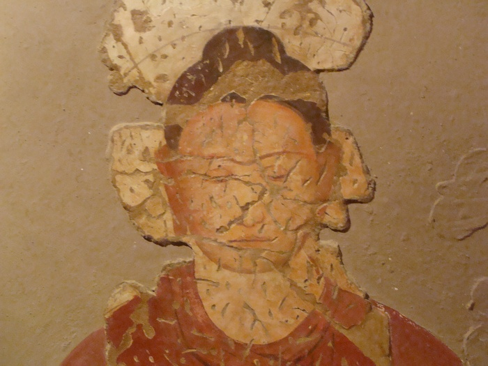 Fayaz Tepe, Wall Painting of a seated Buddha