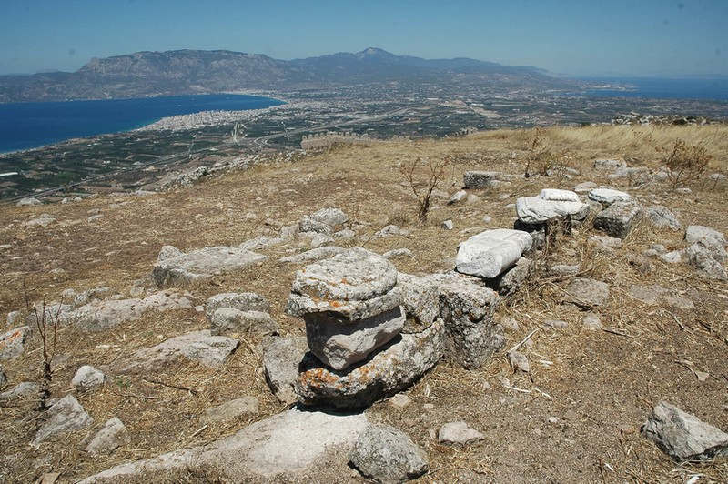 Acrocorinth, View on the Isthmus