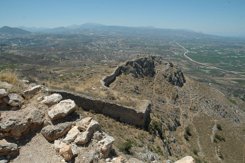Acrocorinth, Walls