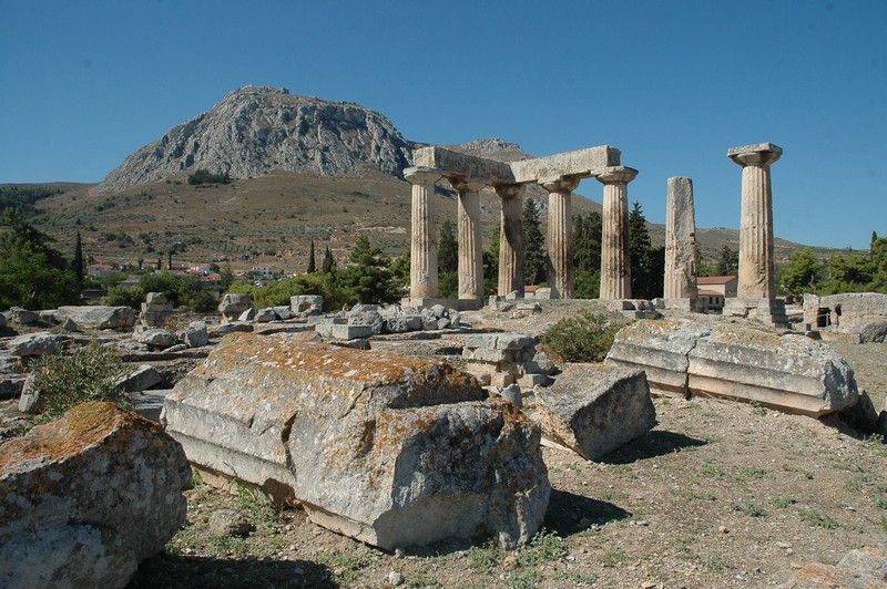 Corinth, Temple of Apollo with Acrocorinth
