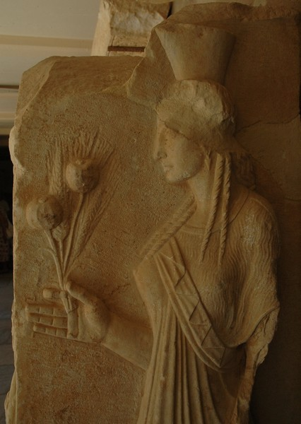 Corinth, Relief of Kore (archaizing)
