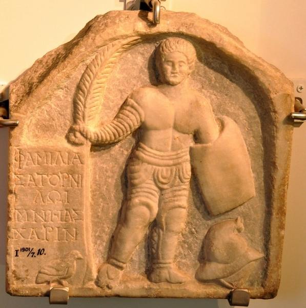 Smyrna, Tombstone of a gladiator from the team of Satornilos