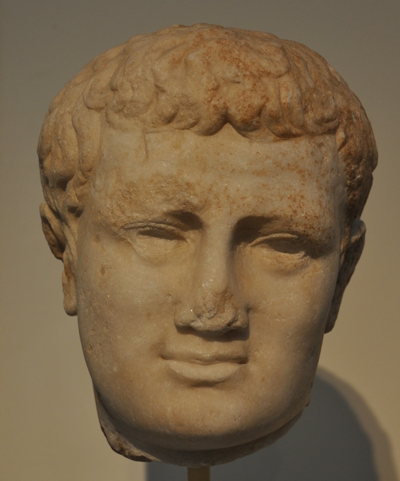 Smyrna, Portrait of Caligula, reworked to resemble Titus
