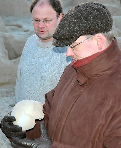 Finding a human skull