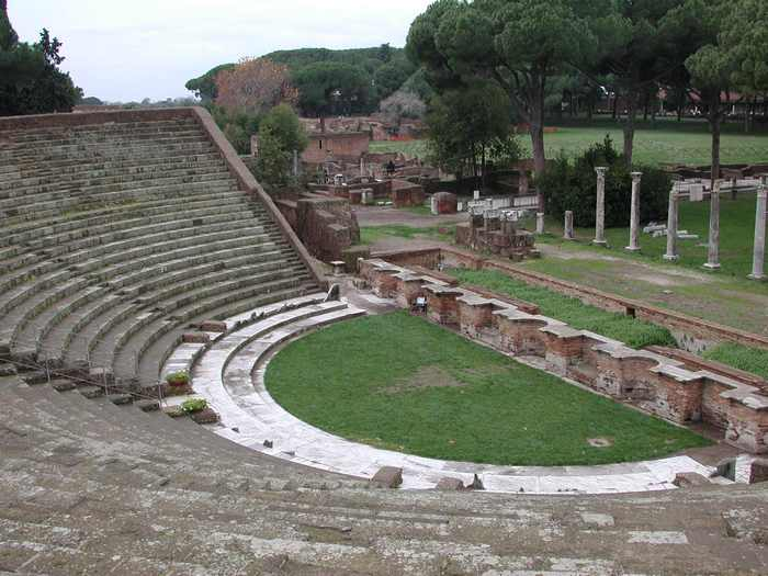 Ostia, Theater, Orchestra