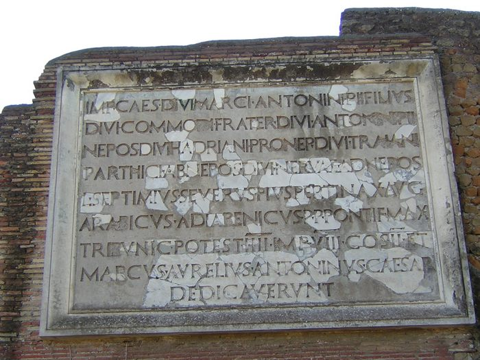 Ostia, Theater, Inscription