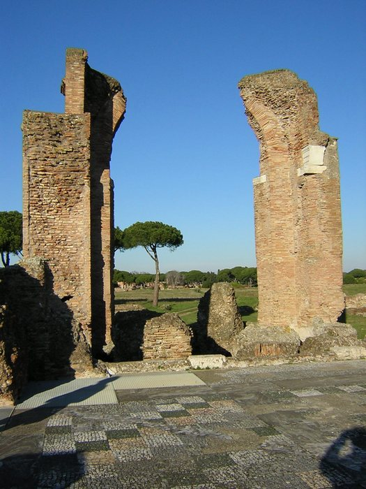 Ostia, Baths of the Porta Marina (1)