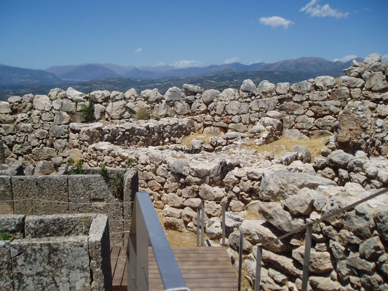Mycenae, Cyclopean Wall near Grave Circle A
