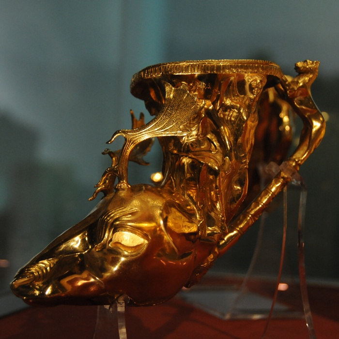 Panagyurishte Treasure, Rhyton with a stag's head