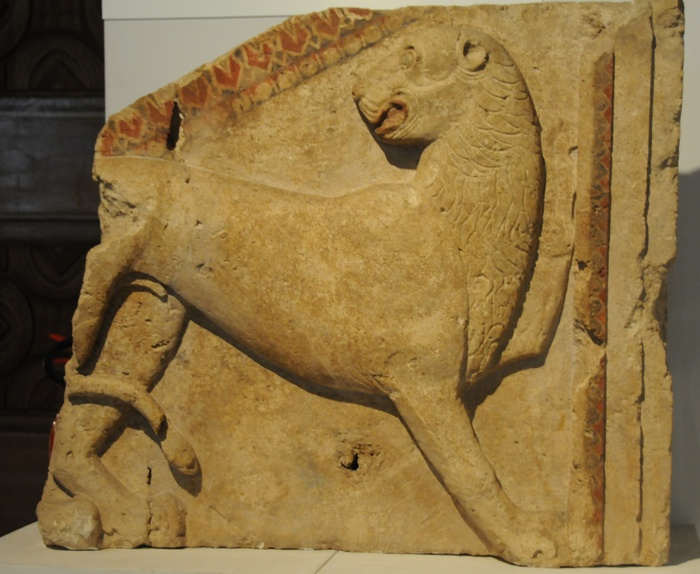 Zhana Mogila, relief of a lion
