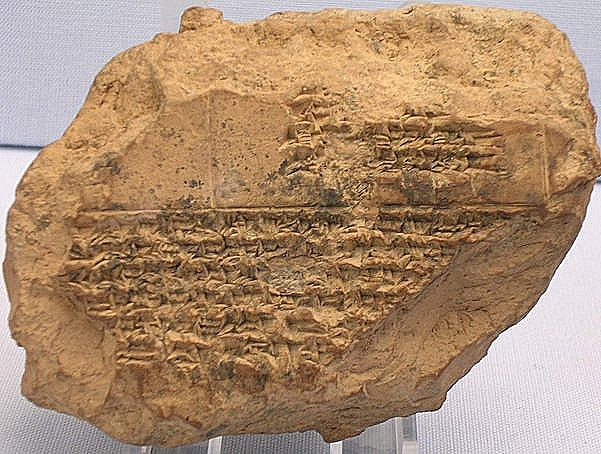 Tablet with a list of eclipses between 518 and 465, mentioning the death of king Xerxes
