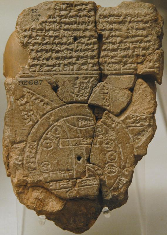 Sippar, Babylonian world map
