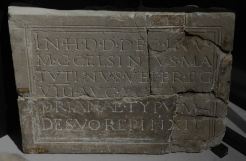 Strasbourg-Koenigshoffen, Small Mithraic Relief, Dedication of a Repainting