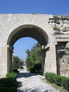 The so-called Gate of Cleopatra. According to a local tradition, this was the site of Marc Antony's meeting with Cleopatra (41 BCE)