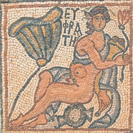 Qasr Libya, East Church, mosaic 1.04.b (Euphrates)