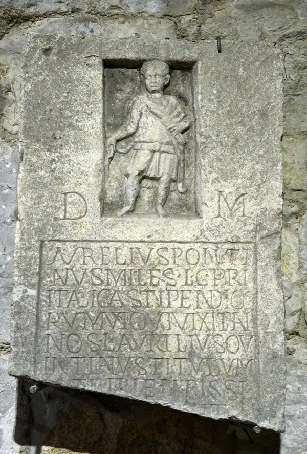 Salona, Tombstone of Pontianus of I Italica