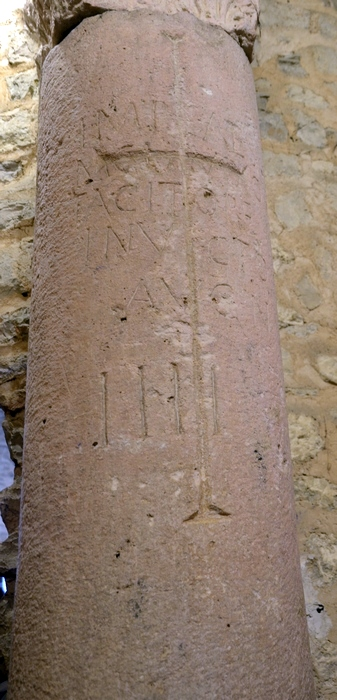 Zadar, Church of St Peter and Andrew, Milestone of the emperor Tacitus