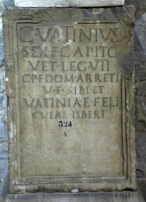 Salona, Tombstone of Vatinius of VII Claudia