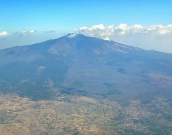 The Etna, seen from an airplane