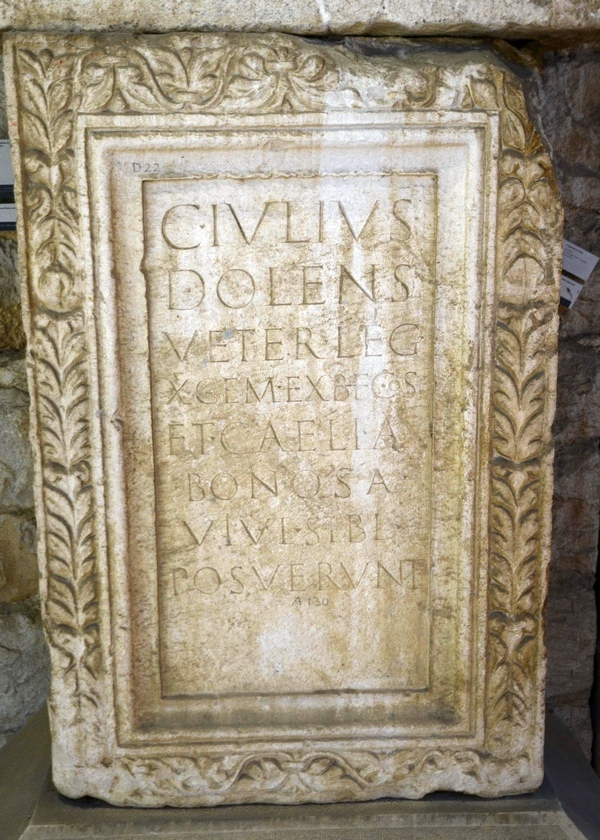 Salona, Tombstone of Dolens of X Gemina