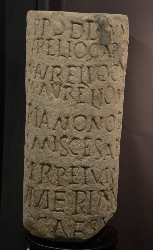 Nedinum, Milestone of Carus and sons