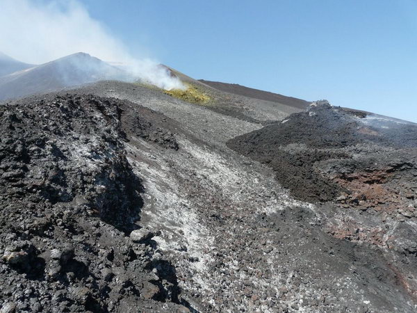 Near the summit of the Etna