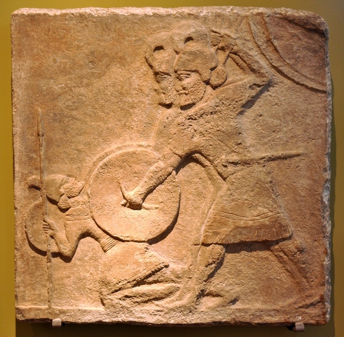 Nimrud, Relief with soldiers