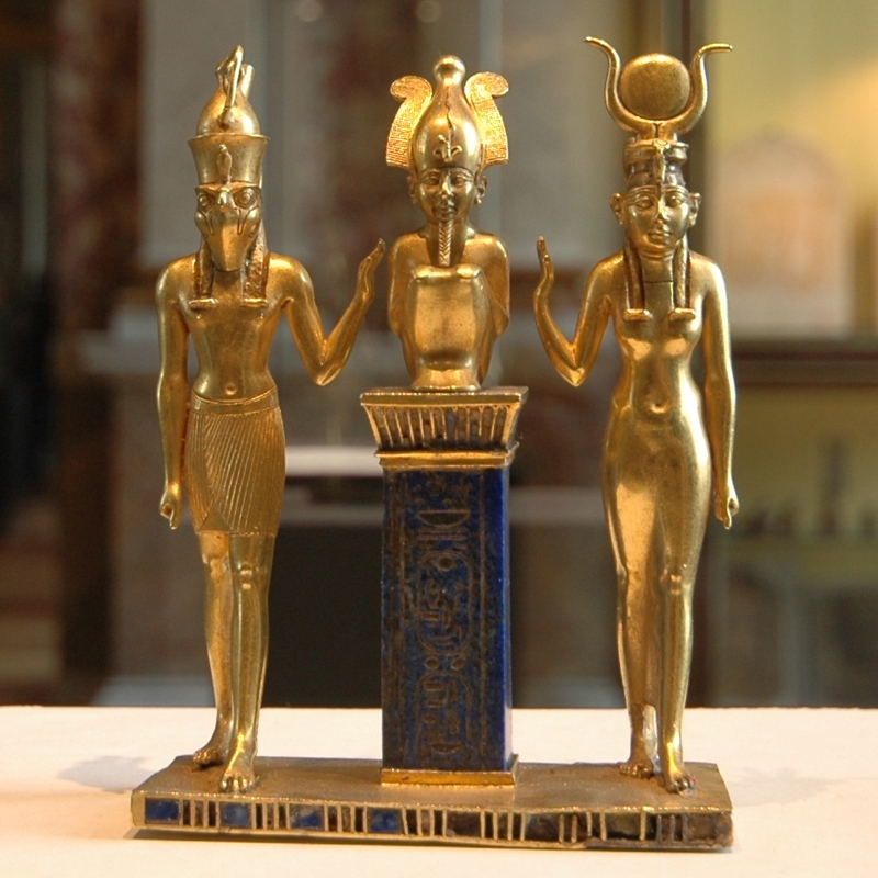 Horus, Osiris, Isis (from the reign of Osorkon II)