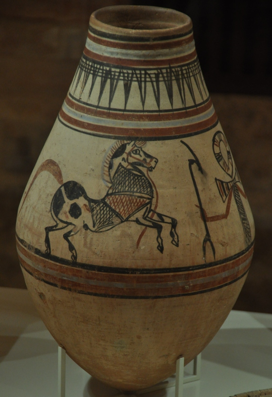 Vase with a painted horse