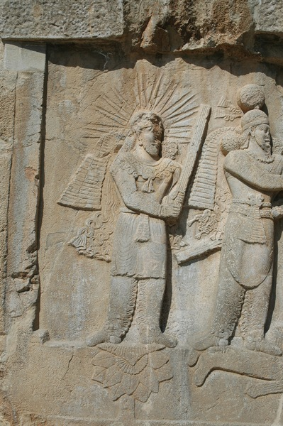Taq-e Bostan, investiture relief of Shapur II, Mithra