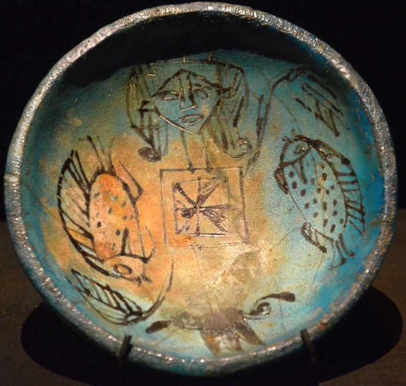Dish with the symbol of Nun