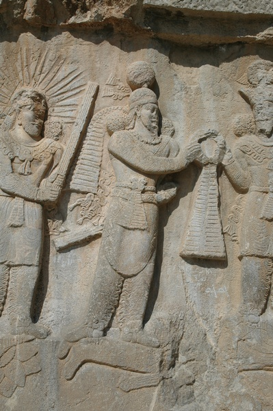 Taq-e Bostan, investiture relief of Shapur II, Shapur
