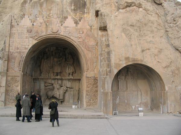 Taq-e Bostan, caves