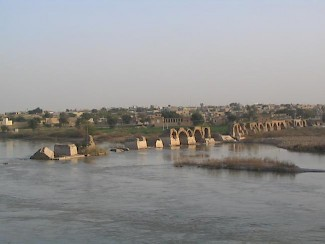 The Roman bridge at Shushtar