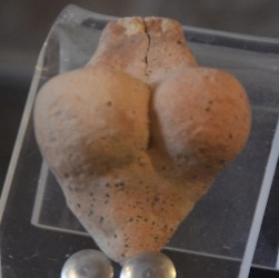 Female figurine from Tall Hujayrat al-Ghuzlan, made of baked clay