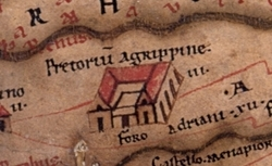 Praetorium Agrippinae on the Peutinger Map