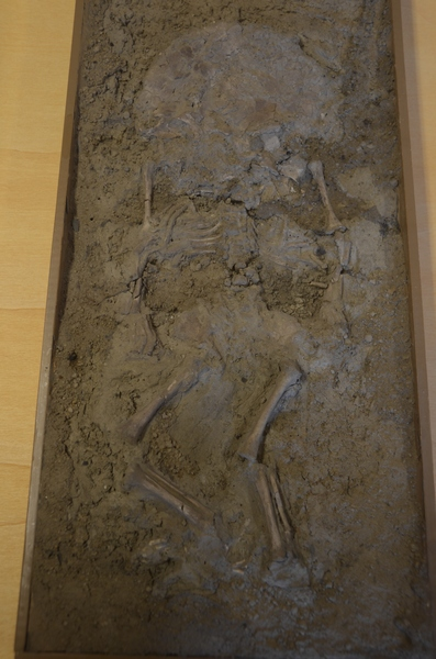 Valkenburg, Skeleton of a baby