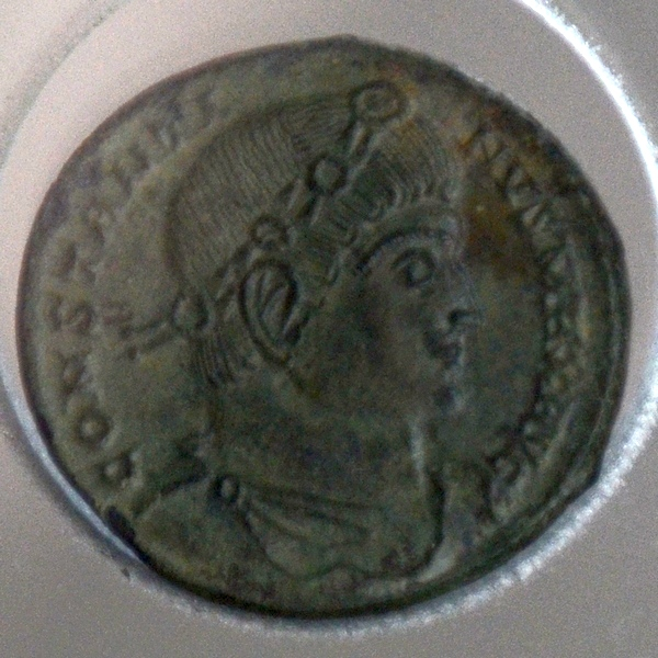 Andesina, Amphitheater, Coin of Constantine the Great