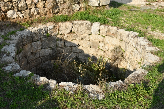 Byblos, L-shaped temple, Well