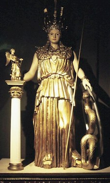 Reconstruction of Phidias' statue of Athena Parthenos