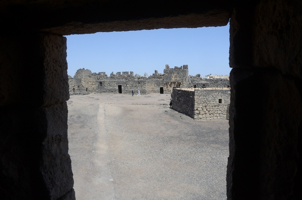 Qasr el-Azraq, inner court from south tower