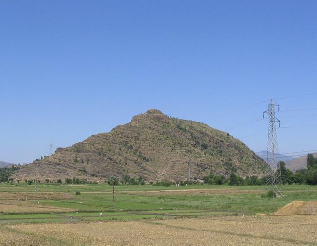 Bazira from the east. The fortification walls are still visible.