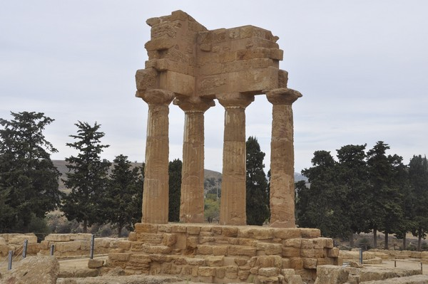 The so-called Temple of the Dioscuri