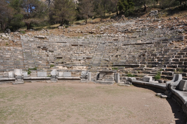 Priene, Theater, Seats