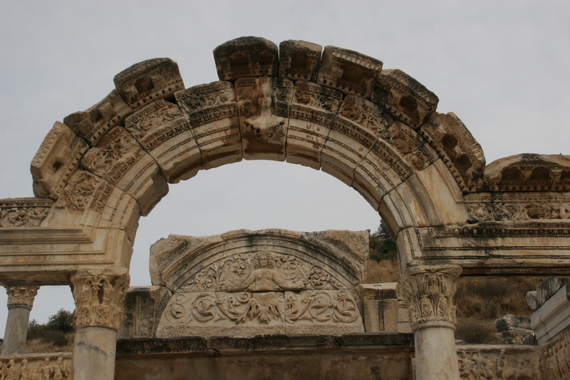 Ephesus, Temple of Hadrian, Façade (1)