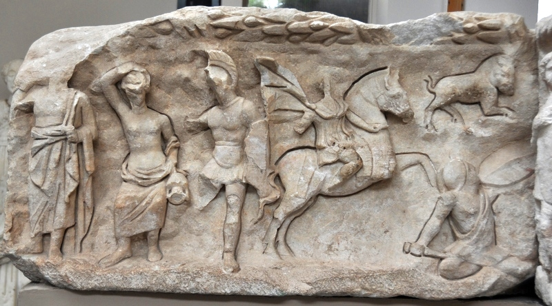 Ephesus, Temple of Hadrian, 4th-century relief (1)
