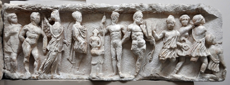 Ephesus, Temple of Hadrian, 4th-century relief (2)