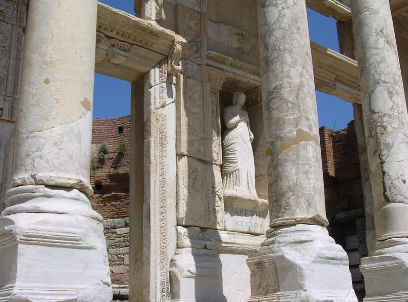 Ephesus, Library of Celsus, facade with Arete