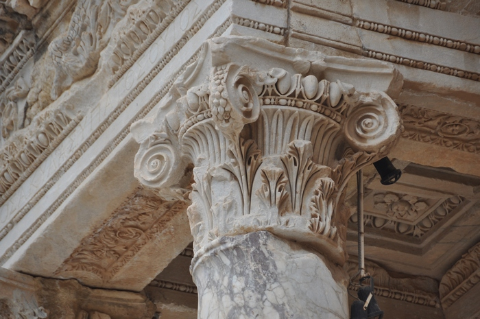 Ephesus, Library of Celsus, Capital