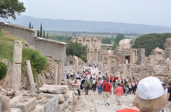 Ephesus, Street of the Curetes with tourists